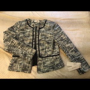 Tweed Open Front Original Calvin Klein Jacket